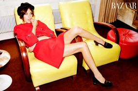 Alexa Chung in Prada for Harper's Bazaar