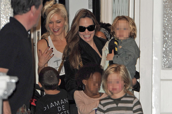 Play date! Angelina's brood hang out with Gwen's gang in London