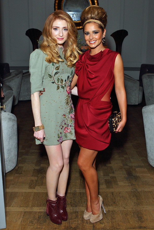 Cheryl Cole's tower of hair vs Nicola Roberts' gorgeous golden curls