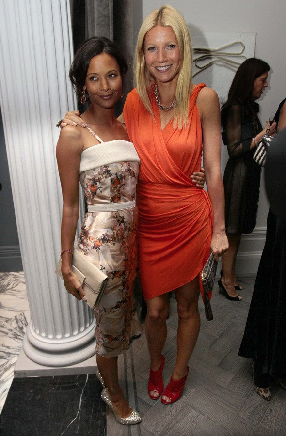 Thandie Newton and Gwyneth Paltrow at the Coach dinner at The Arts Club in London