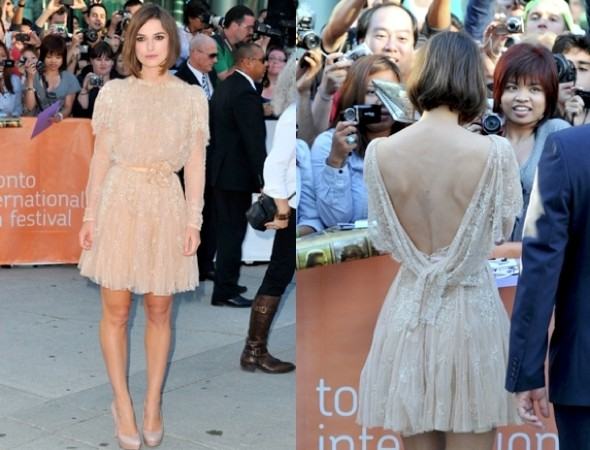 Keira Knightley wows in nude backless dress at the Toronto Film Festival