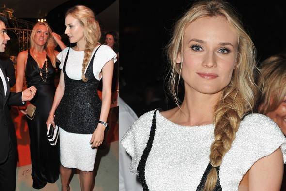 Diane Kruger in Chanel Couture at the opening dinner of the 2011 Venice Film Festival