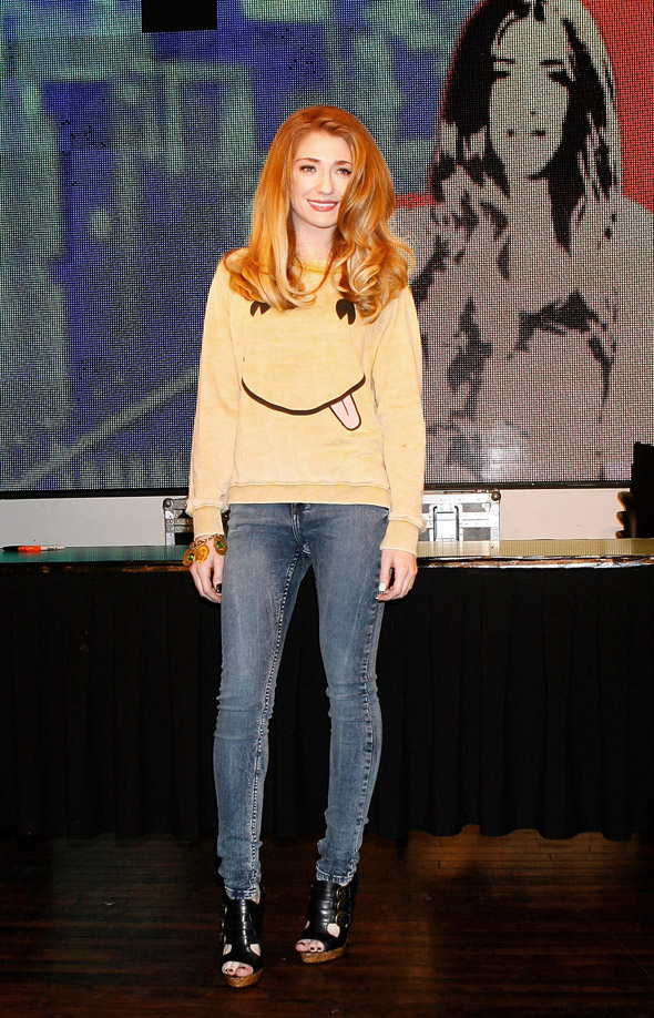 Nicola Roberts is all smiles at album signing