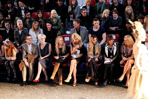 Pamela Anderson? Front row at London Fashion Week? Sure is...