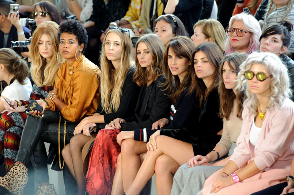 The stars flock to Topshop Unique's front row