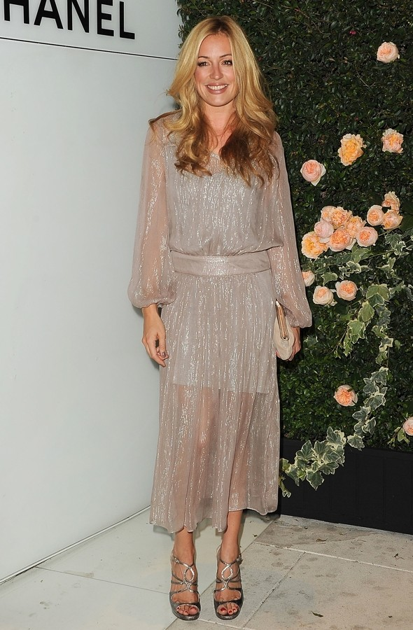 Chanel chic-off: Cat Deeley's floaty frock v Kate Bosworth's LBD