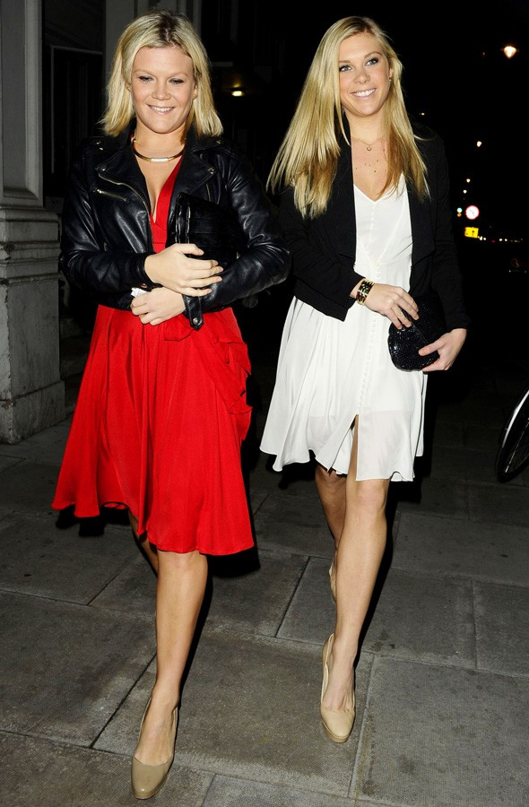 Chelsy Davy is all smiles in simple white frock for night out in London
