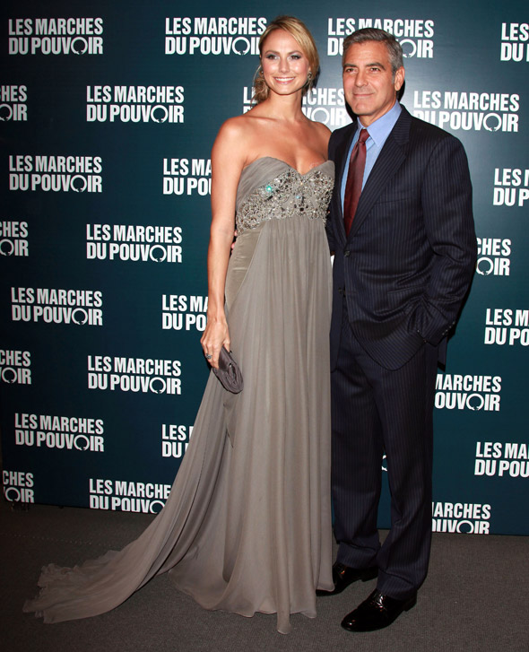 Another glam red carpet outing for George Clooney and Stacey Keibler