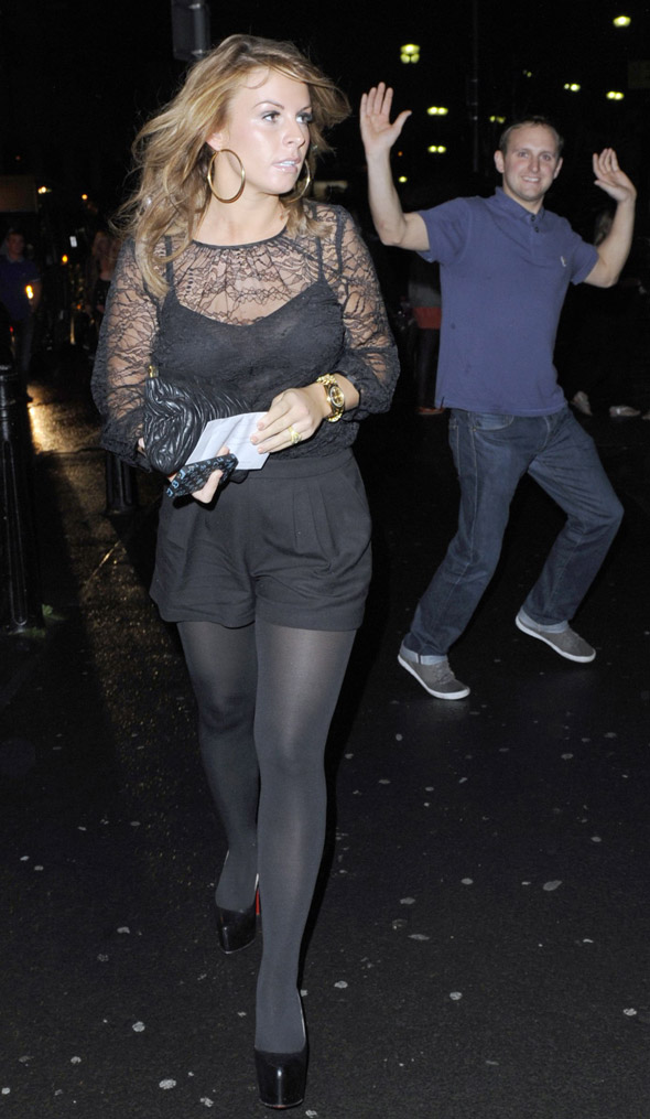Coleen Rooney heads to Rihanna concert in lacy black outfit