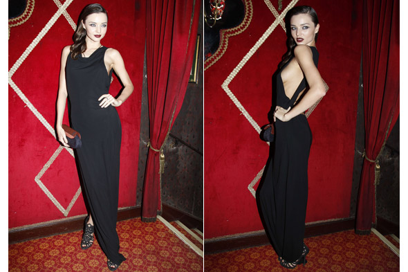Miranda Kerr's goes rather revealing at Carine Roitfeld's Irreverent Dinner