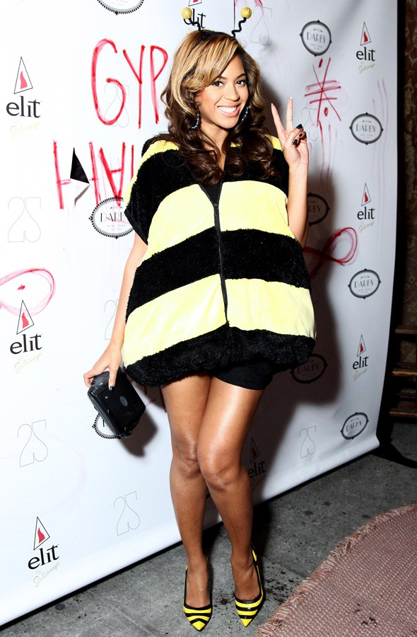 Beyonce dressed as a bee at the Gypsy Halloween party