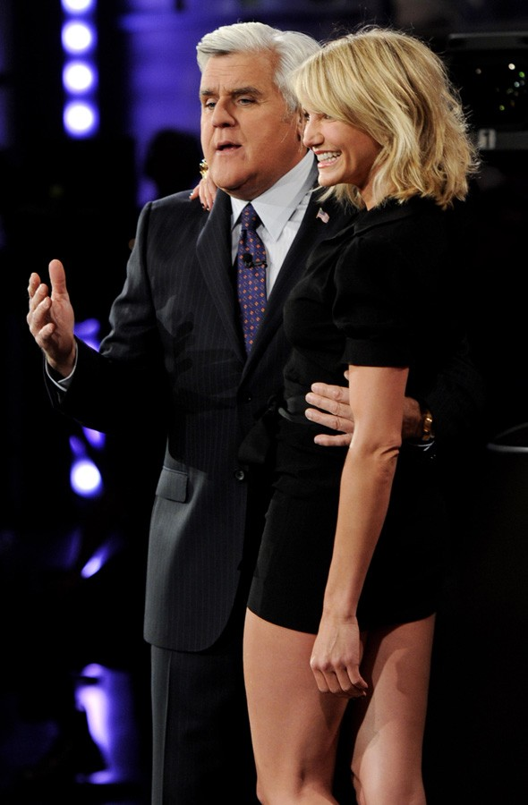 Cameron Diaz and Jay Leno