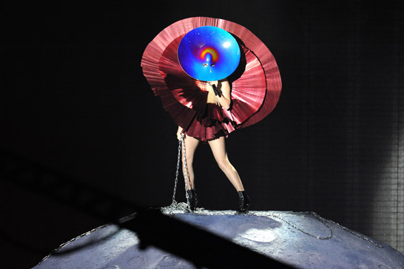 Lady Gaga: Brought to the EMA by the power of circles...