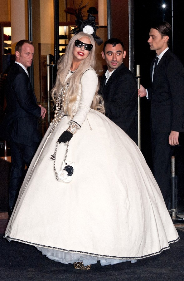 Lady Gaga at the opening of her Gaga Christmas workshop at Barneys in New York
