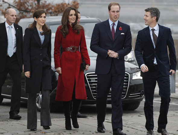 Duchess Kate is a scarlet woman for visit to Unicef facility