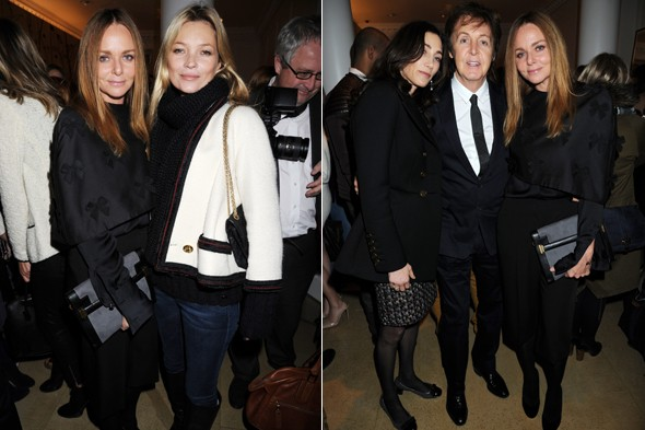 Kate Moss Stella McCartney Paul And Nancy Shevell Photos Rex Features