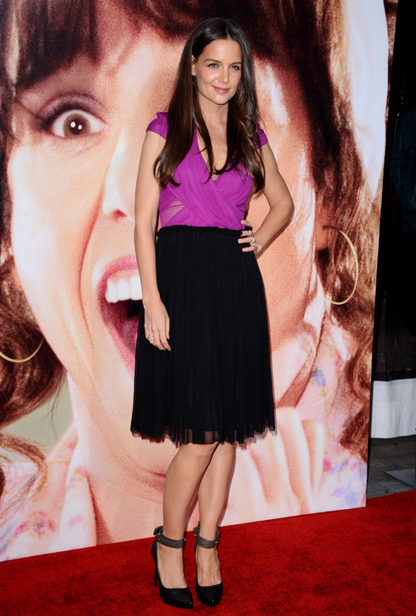 Hot or not: Katie Holmes goes purple and black on the red carpet