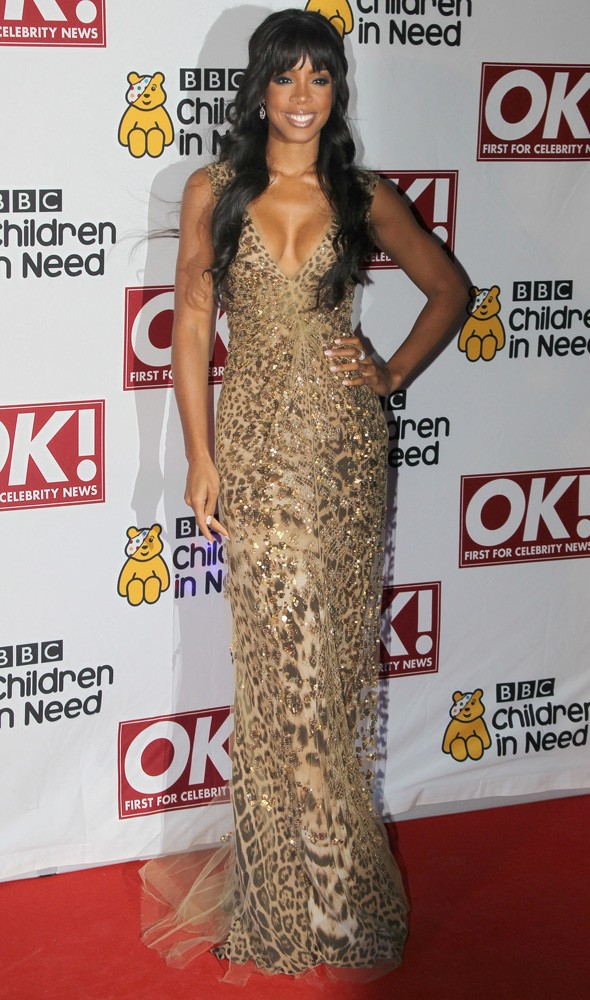 Kelly Rowland at the Children in Need charity dinner