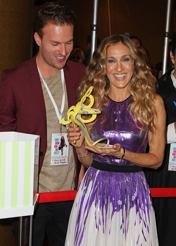 sarah jessica parker yellow shoe