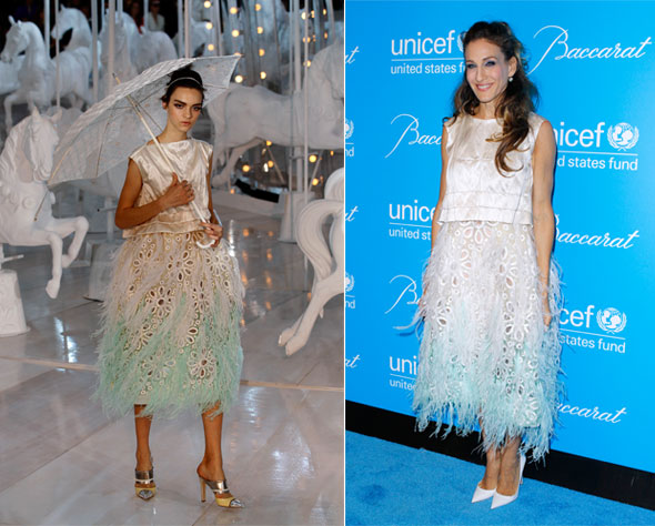 Sarah Jessica Parker wears spring look at Unicef Snowflake ball