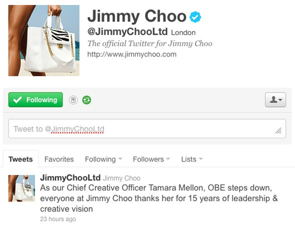 Tamara Mellon quits Jimmy Choo after 15 successful years