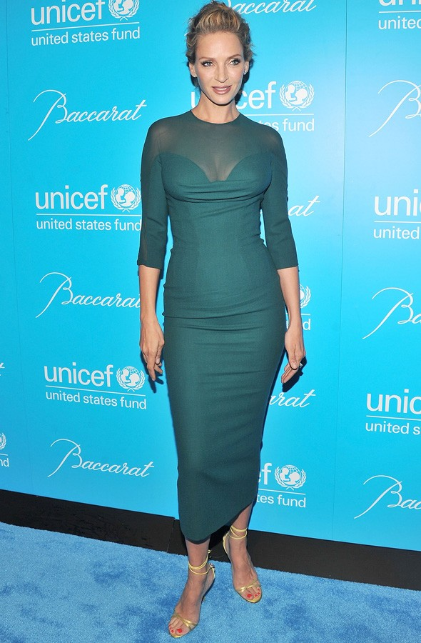 Uma Thurman at the Unicef Snowflake ball