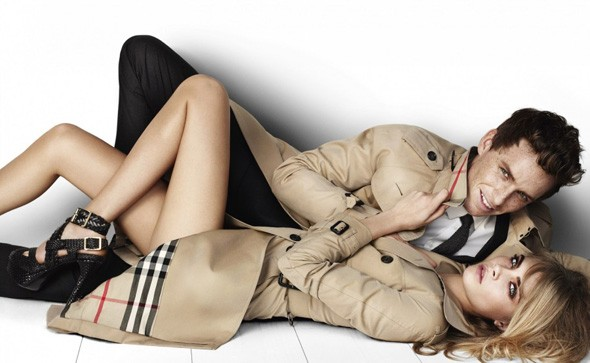 Eddie Redmayne and Cara Delevigne in the Burberry Spring/Summer 2012 campaign