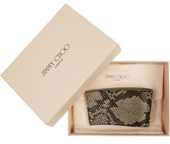 Ideal present for the caffeine-addict: Jimmy Choo coffee cup holder