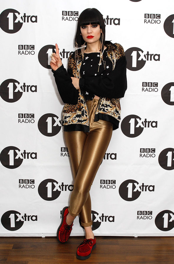 All tight on the night: Jessie J's return to catsuits