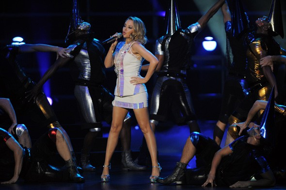 Hot or not: Kylie Minogue's see-through jumpsuit