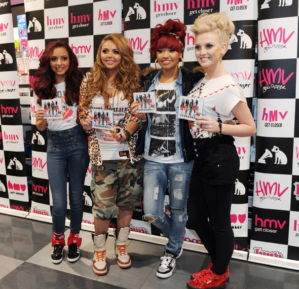 Little Mix girls keep it casual for a single signing in South Shields