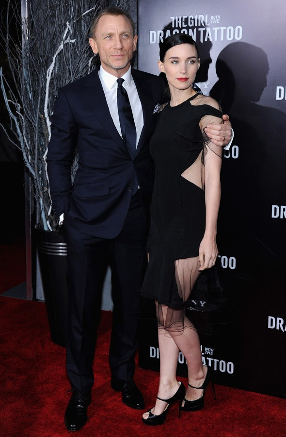 Daniel Craig and Rooney Mara at the New York premiere of The Girl with the Dragon Tattoo
