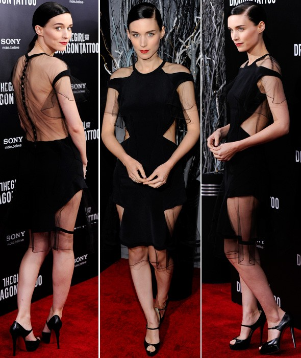 Rooney Mara in Prabal Gurung at the New York premiere of The Girl with The Dragon Tattoo