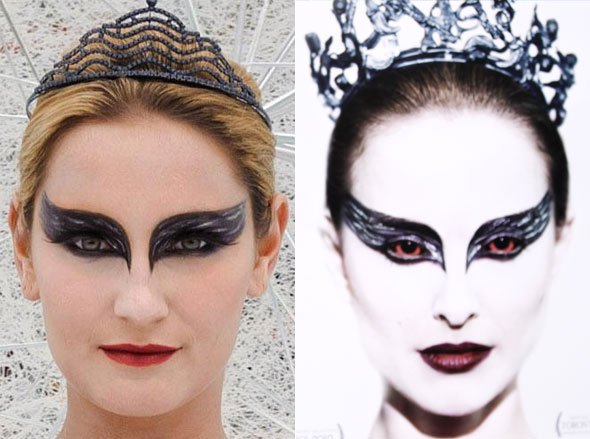 The Only Way Is Swan Lakeside: Sam Faiers recreates Black Swan look
