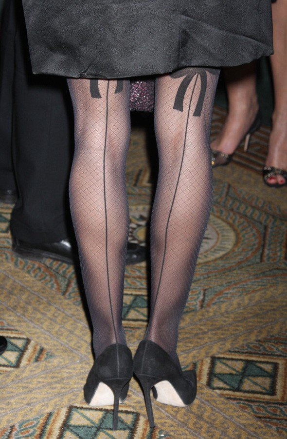 Hot or not: Sarah Jessica Parker's festive seamed stockings