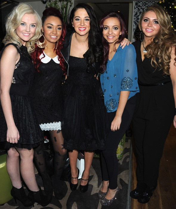 Tulisa and Little Mix get glam for X Factor winners' dinner