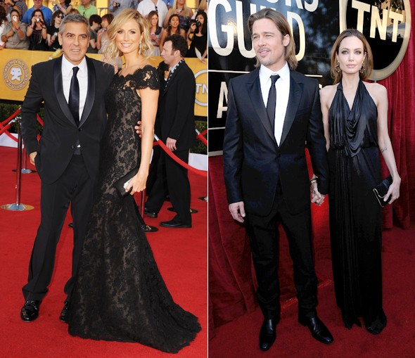 Battle in black: Brad and Ange vs George and Stacy