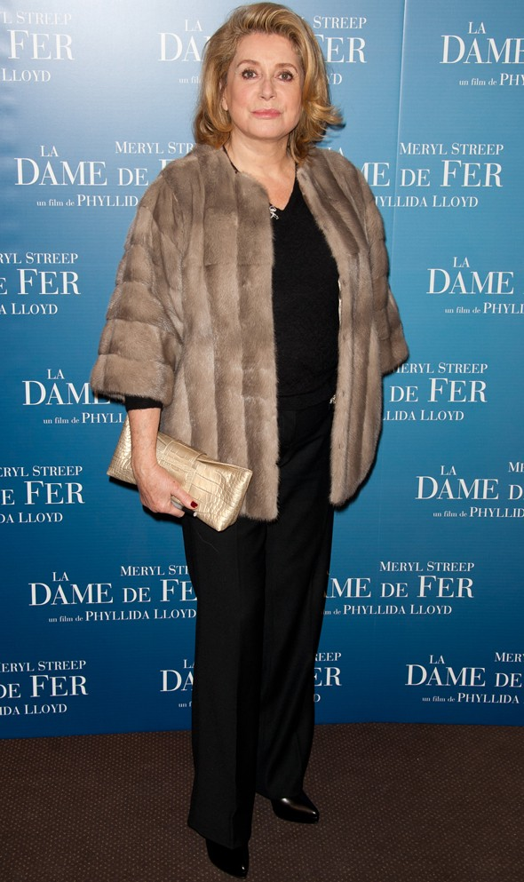 Midnight blue in Paris: Meryl Streep shines at The Iron Lady premiere