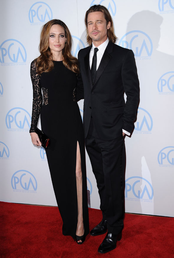 Sexy couple alert! Brad and Angelina are smouldering at Producers Guild Awards