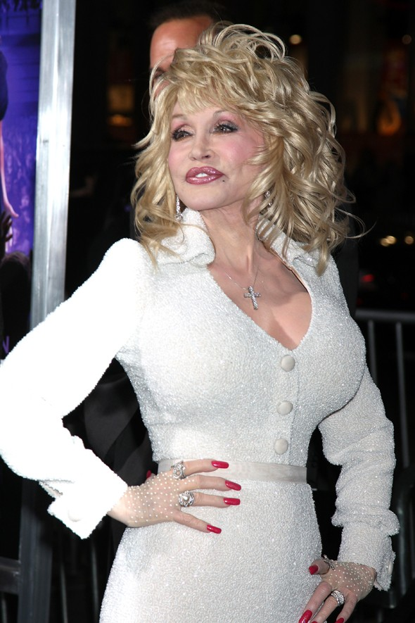 Hot or not: Dolly Parton's white lace gloves at Joyful Noise premiere