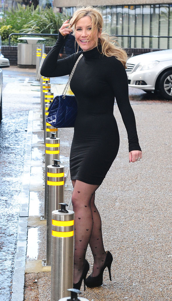 Sugababe Heidi Range shows off fab figure at Dancing on Ice press conference