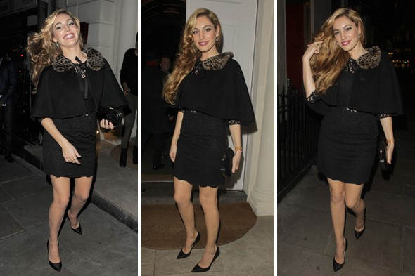 Kelly Brook attends Netflix launch party, excitable hair swishing ensues