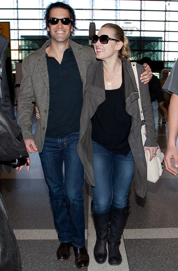 Kate Winslet and Ned Rocknroll at LAX airport