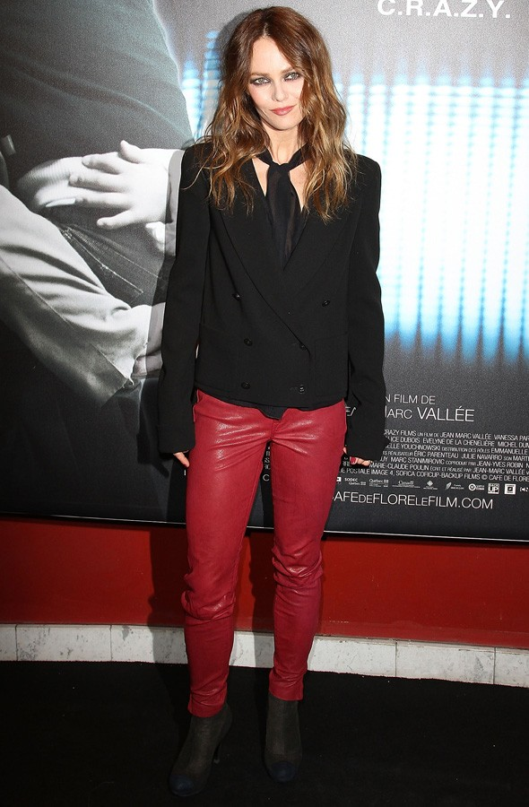 Vanessa Paradis at the Paris premiere photocall of Cafe de Flore without Johnny Depp