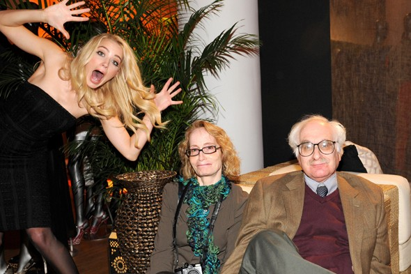 Amber Heard photobombs the elderly at Guess for Marciano preview
