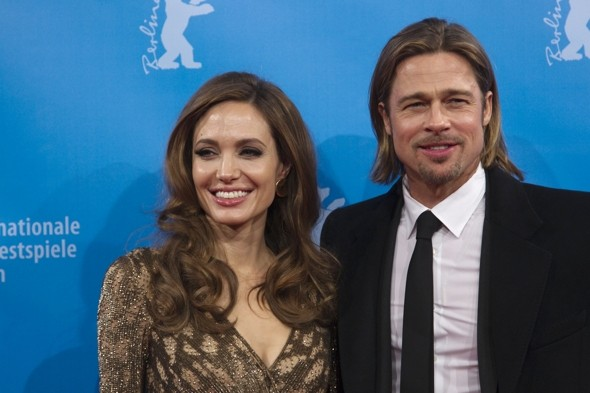 Sparkly gold animal print? Angelina Jolie breaks out of the LBD mould