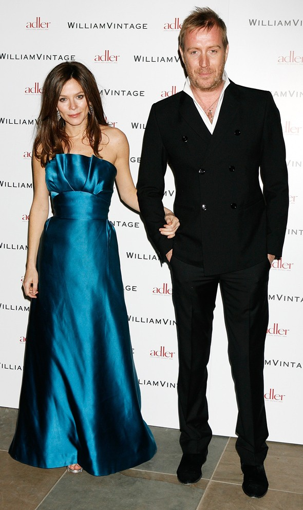 Anna Friel dazzles in blue at Gillian Anderson's private dinner in London