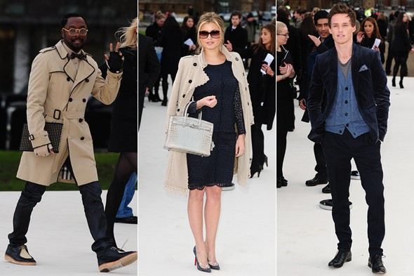Did Burberry just win the most star-studded LFW f-row competition?