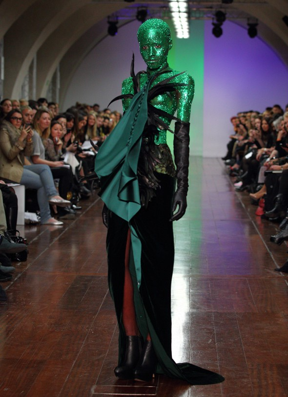 London Fashion Week begins! And is this the weirdest catwalk look ever?
