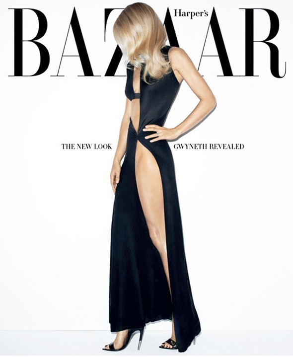 Gwyneth gets leggy (and how) on March Harper's Bazaar cover